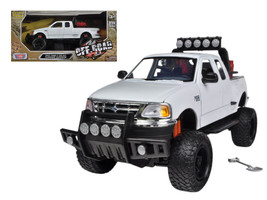 2001 Ford F-150 XLT Flareside Supercab Pickup Truck Off Road White 1/24 ... - $38.26