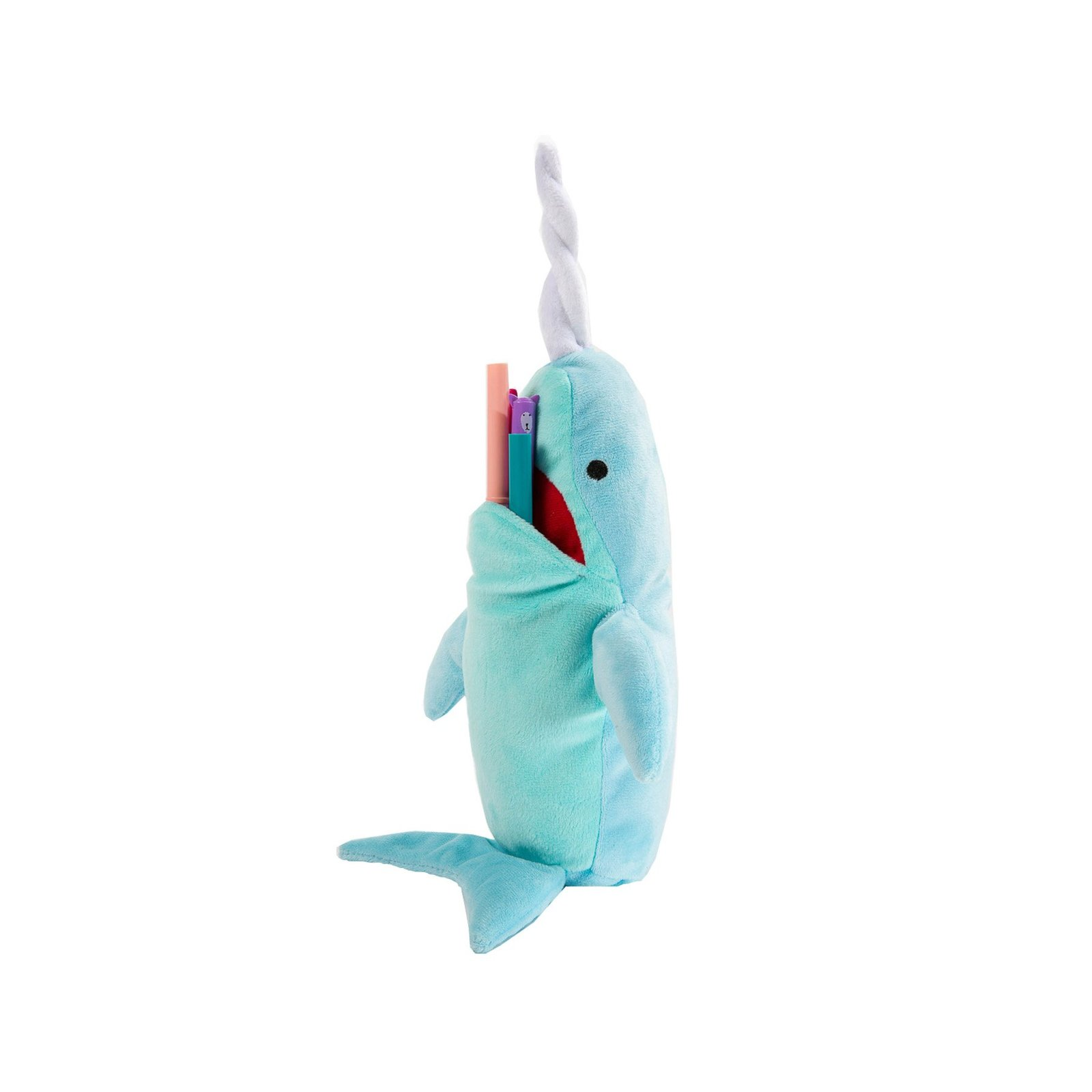North American Bear Big Mouth Narwhal Whale Plush, 10""