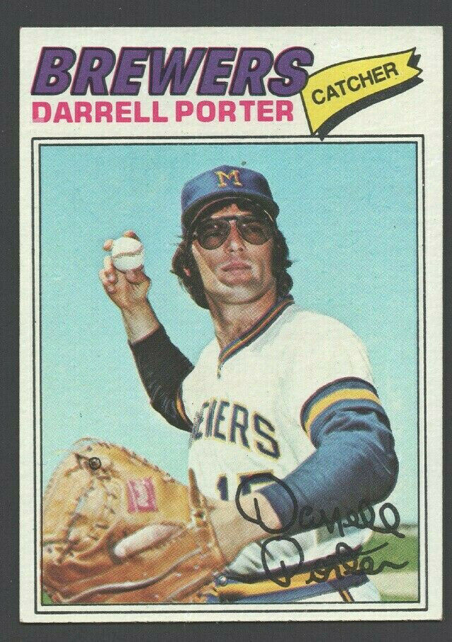 Primary image for Milwaukee Brewers Darrell Porter 1977 Topps Baseball Card #214 ex/em