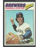 Milwaukee Brewers Darrell Porter 1977 Topps Baseball Card #214 ex/em - $0.70