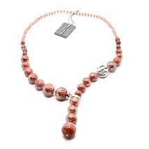 NECKLACE ANTICA MURRINA VENEZIA WITH MURANO GLASS RED BEIGE ORANGE CO888A25 - $85.98