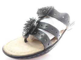 Naturalizer Women's Jayda Sandals in Black Atanado Veg Leather Size 9.5 - $34.64