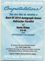 2019 BOWMANS BEST HUNTER BISHOP AUTO REFRACTOR GREEN PARALLEL  - $84.14