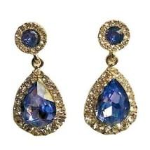 Charter Club Gold-Tone Crystal & Purple Stone Drop Earrings Gold Tone NE... - $5.94