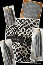 APT. 9 Women's 1X Blouse Black & White Animal Print Long Sleeves 100% Po... - $5.93