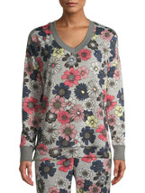 Secret Treasures Essentials Women's Floral V-neck Knit Sleep Top XL - $19.99