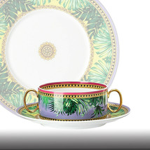 Versace by Rosenthal Creamsoup Cup & Sauce Jungle Animalier New - $326.70