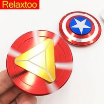 Captain America Iron Man EDC Spinner Hand Fidget Spynner Finger Toys Ant... - $12.90