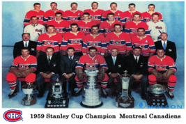 NHL 1958 - 59 Stanley Cup Champion Montreal Canadiens 8 X 12 Photo Free ... - $10.99