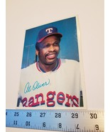 Al Oliver Ball Card 5x7 Texas Rangers Outfield Player 1980 Topps MLB Bas... - $9.49
