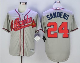 New Men's Atlanta Braves Jerseys #24 Deion Sanders Jersey Gray Baseball ... - $42.00