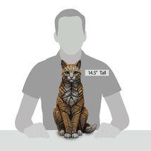 "15"" Sitting Cat Sculpture by Edge Sculpture - Stunning Piece image 4"