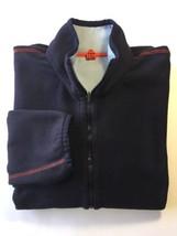 Puma Reversible Sweat Shirt Fleece Blue Long Sleeve Men Medium AS IS Jacket - $14.11