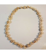 """Natural Hawaiian Shell Lei NECKLACE 36"""" double strand Ring Top Cowrie Miter - $19.79"""