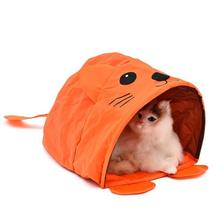 Pet Cat Toys Cute Mouse Tunnels Orange Color Tent Easy House For Small Dog Beds image 12