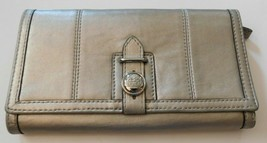 Coach Silver Leather Full Size Wallet - $42.49