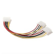IDE 4 Pin 1-to-2 Molex Power Supply Y Splitter Cable Electrical.             A25