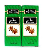 2 Count Spice Supreme 2 Oz Pure Anise Extract Best By 10/8/2023 - $11.99