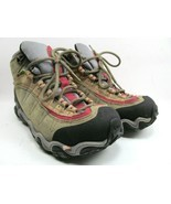 Oboz B Dry Yellowstone Tan And Red Womens Hiking Shoes Size 7.5 Lace Up - £38.33 GBP