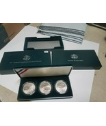 1994 U.S. Veterans Commemorative Silver Dollars Three- Coin Proof Set W - $114.00