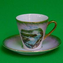 Vintage PM Martinroda (East Germany) Niagara Falls Demitasse Cup & Saucer - $3.95