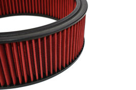 "HIGH FLOW WASHABLE & REUSABLE ROUND AIR FILTER ELEMENT REPLACEMENT 14"" X 4"" RED image 6"