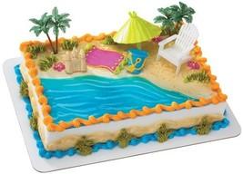 Beach Chair and Umbrella DecoSet Cake Decoration - £9.02 GBP