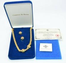 Camrose Kross JBK Multi-Colored Rhinestone Gold Tone Necklace Earring Se... - $108.89