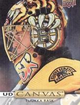 2019/20 Tuukka Rask Upper Deck Series 2 Canvas Card Bruins - $5.99