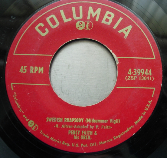 Percy Faith - Swedish Rhapsody / Moulin Rouge - Columbia Records 4-39944