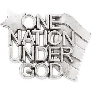 """10K or 14K Gold """"One Nation Under God"""" Lapel Pins"""