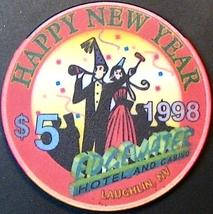 $5 Casino Chip, Edgewater, Laughlin, NV. New Year 1998. O25. - $5.95