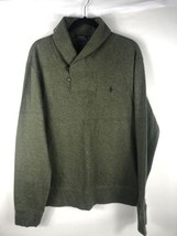 Polo Ralph Lauren Mens Estate Rib Pullover Sweater Sz Large Green Shawl ... - $59.39