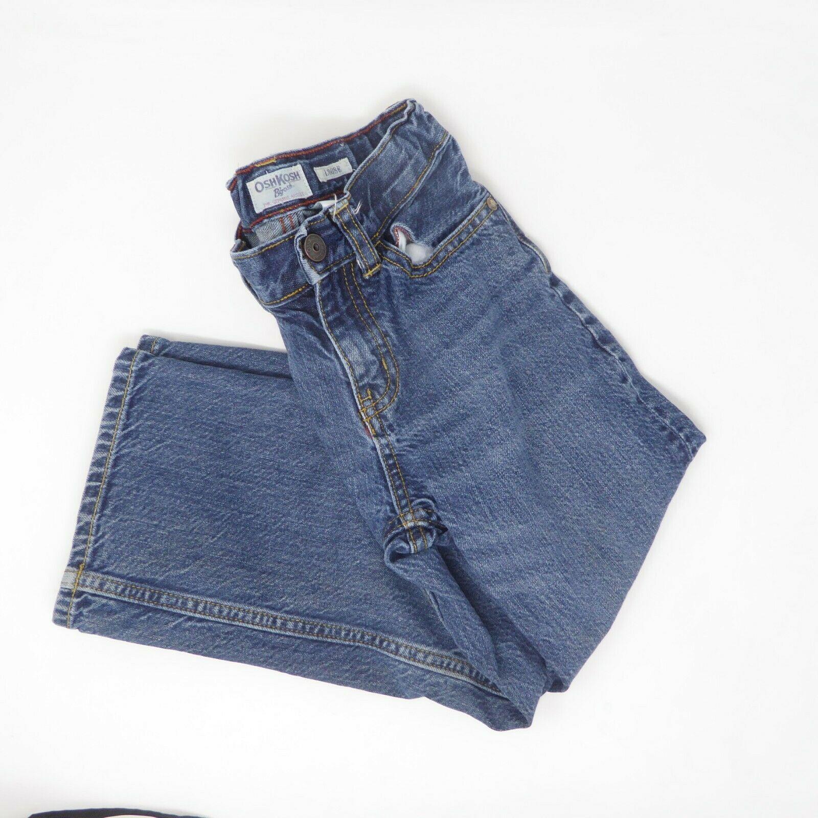 Oshkosh B'gosh Youth Boys Adjustable Waist Loose Fit Straight Leg Jeans Sz 6