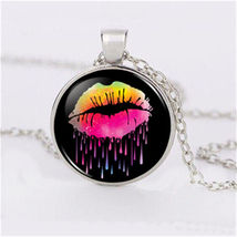 CABOCHON NECKLACE     # 9708     COMBINED SHIPPING - $3.75