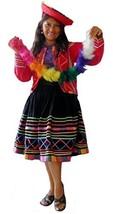 Alpakaandmore Women's Complete Peruvian Dance Costume Large Red - $165.90