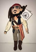Disney Parks Pirates of the Caribbean Jack Sparrow 15in Plush New with Tags - $14.83