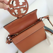 Tory Burch Fleming Convertible Chain Large Shoulder Bag - Brown image 6