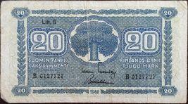 FINLAND BANKNOTE - 20 MARKKAA - YEAR 1945 - WW2 - TREE - FREE SHIPPING - $11.00