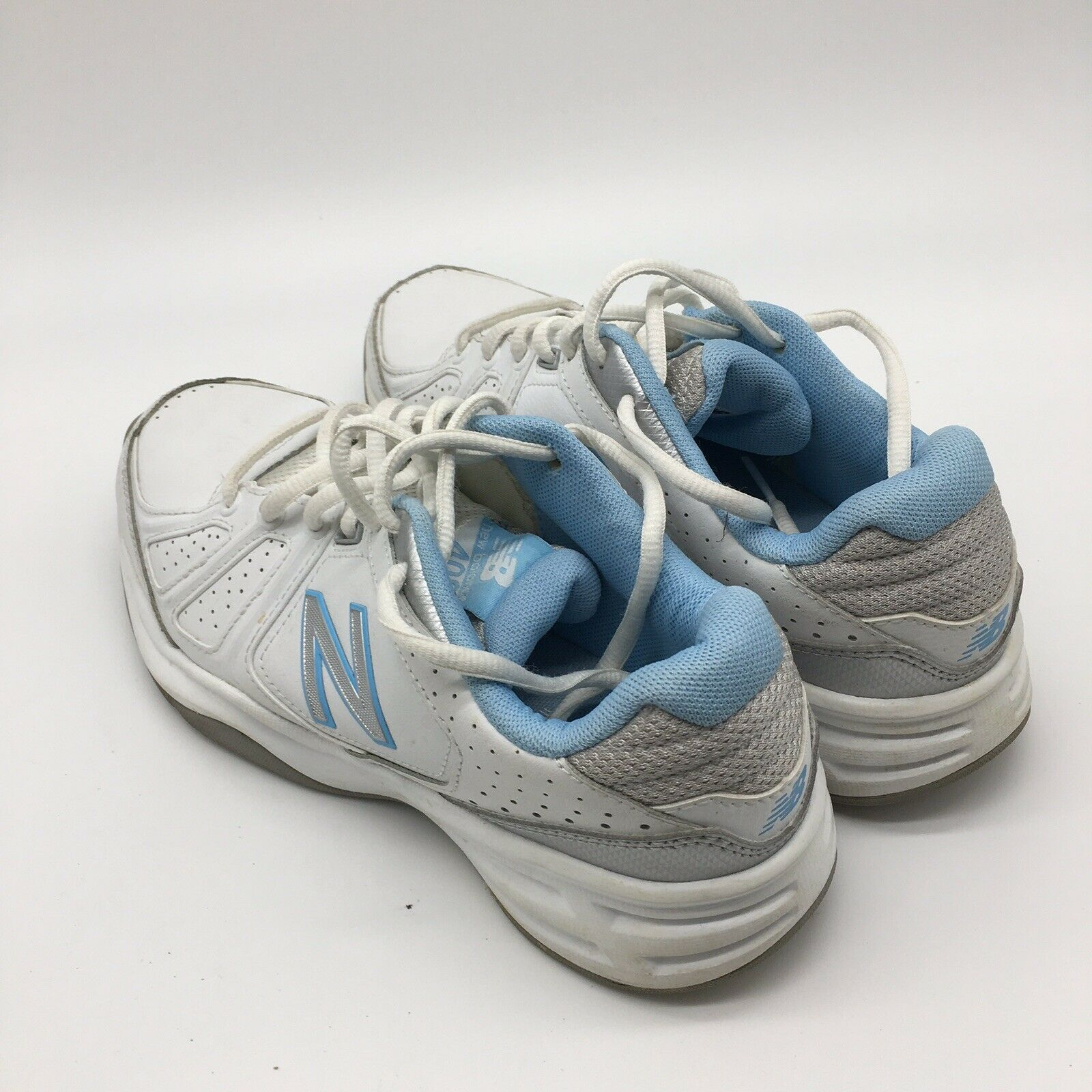 Primary image for New Balance Womens 409 Athletic Shoes, White/ Blue, Size 8.0