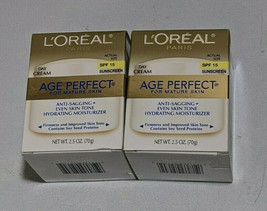 L'oreal Paris Age Perfect For Mature Skin Day Cream SPF 15 Lot of 2 New ... - $23.71