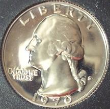 1970-S GEM Proof Washington Quarter PF65 #412 - $3.99