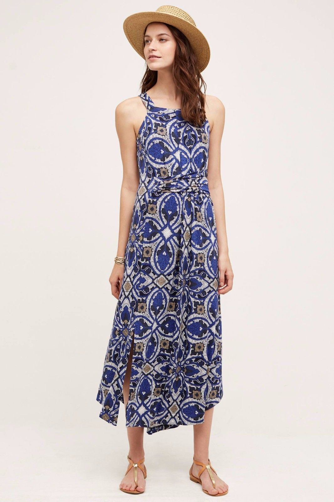 Primary image for NWT ANTHROPOLOGIE AURETTA PRINTED SLIM MAXI DRESS by MAEVE M
