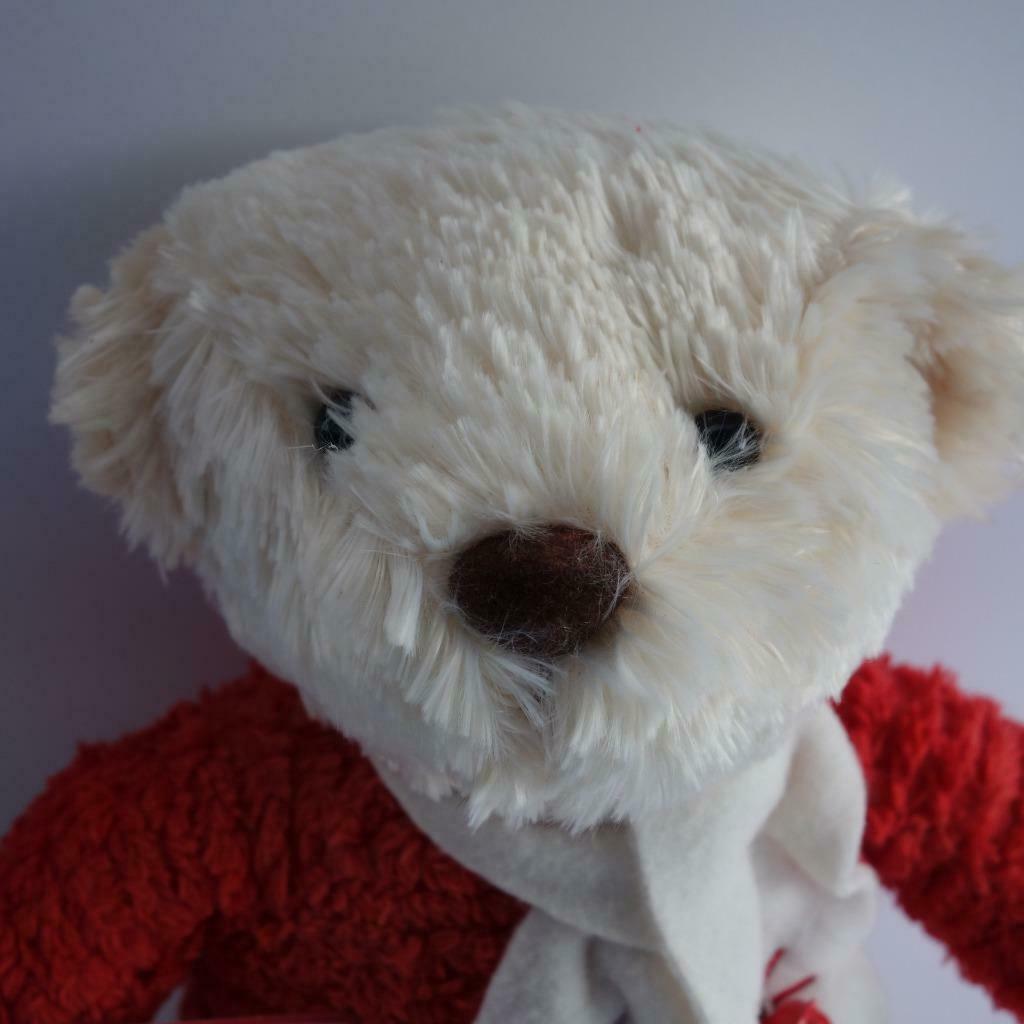 "Hallmark Jingle Bear Soft Plush Bear Plays Jingle Bells 13"" High image 2"