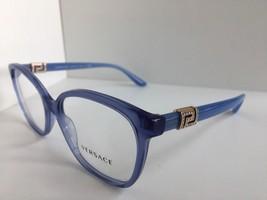 New Versace Mod. 3532-B 2552 Blue 54mm Women's Eyeglasses Frame Italy #3 - $199.99