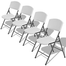 vidaXL 4x Garden Chair Foldable HDPE Portable Camping Patio Dining Picnic - $131.99