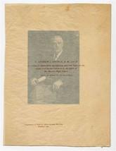 Andrew J George A.M, Litt. D Master Newton High School Massachusetts Pho... - $27.79