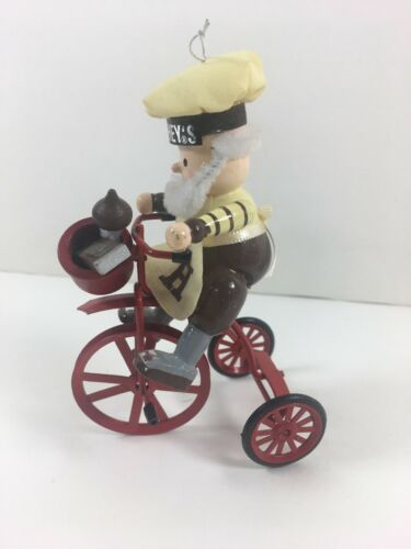 Primary image for Kurt Adler Hershey's Elf on a Bicycle 1990's Ornament