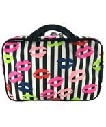 Lulu Guinness Lip Blot Travel Kit Make Up Bag Case Travel Pouch Patent S... - $105.42