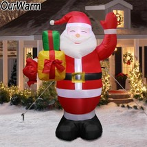 Inflatable Santa Claus Outdoors Christmas Decorations for Home Yard Garden - £47.36 GBP